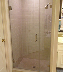 Residential Shower Door With Inline Panels