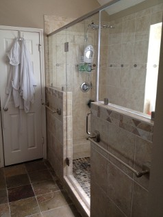 Residential Frameless Shower Door With Inline Panels